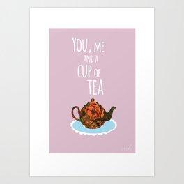 Tea for Two (lilac) Art Print
