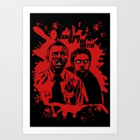 shaun of the dead Art Prints featuring Shaun of the dead blood splatt  by Buby87