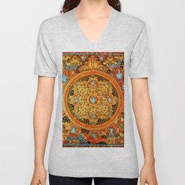Buddhist Mandala 45 Ashta Bhairava Unisex V-Neck