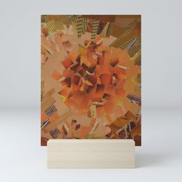 """The Hot Energy"" Ecologic atypic art - 1/3 - by WHITEECO Ecologic design Mini Art Print"