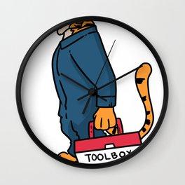 Mechanic Gift Technician Plumber Caretaker Wall Clock