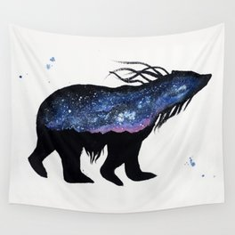 Milky Way Bear Wall Tapestry