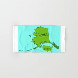 Alaska and the Lower 48 Forty-eight Hand & Bath Towel