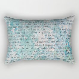 Blue and Green Splatters Rectangular Pillow