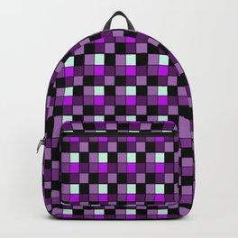 Amethyst Popsicle Blocks, Checkered Pattern - Purple Backpack