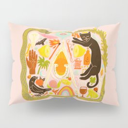 Charmed - Pink and Green Pillow Sham