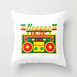 Fan of Reggae Music? Wear it anytime you want with this awesome colorful and creative tee design! Throw Pillow