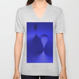 the color blue Unisex V-Neck