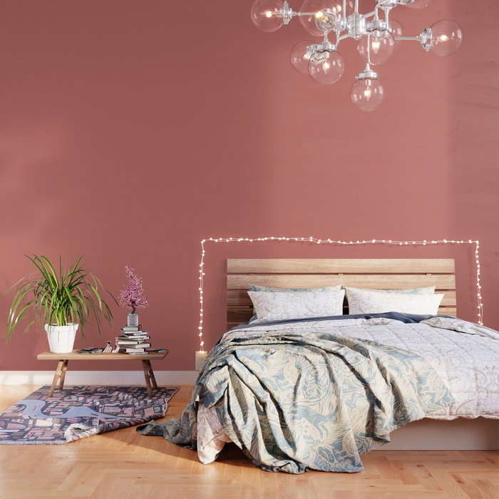 Camellia Pink in an English Country Collection Wallpaper