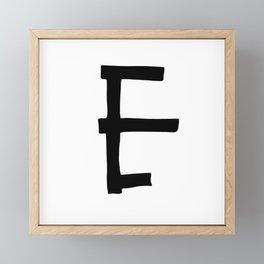 E Monogram (Hand 2) Framed Mini Art Print