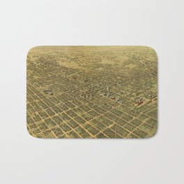 Vintage Pictorial Map of San Jose CA (1901) Bath Mat