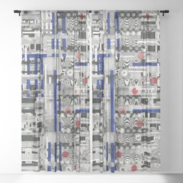 The Way of Invisible Things (P/D3 Glitch Collage Studies) Sheer Curtain