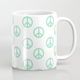 Peace (Mint & White Pattern) Coffee Mug
