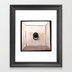 white drawer Framed Art Print