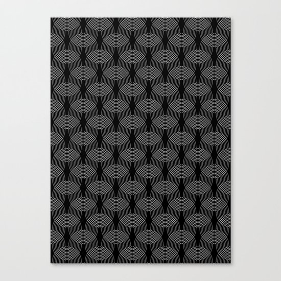 black undulation Canvas Print