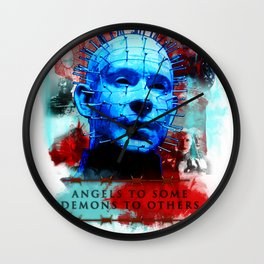 """Hellraiser Pinhead """"Angels to Some"""" Wall Clock"""
