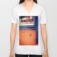 puerto rico V-neck T-shirts featuring Lizard in Puerto Rico by ANoelleJay