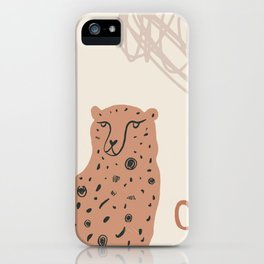 Modern Abstract Leopard iPhone Case
