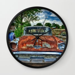 Route 66 Oldsmobile Wall Clock