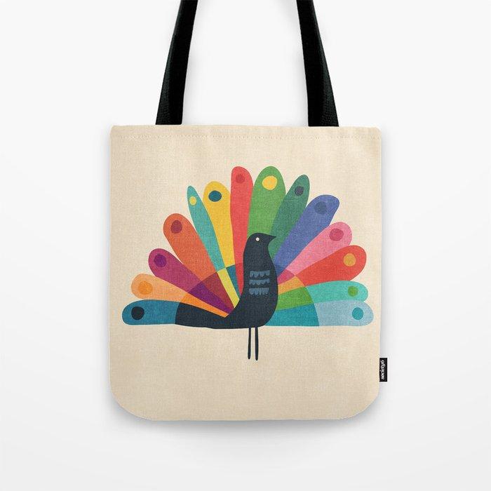 Whimsical Peacok Tote Bag
