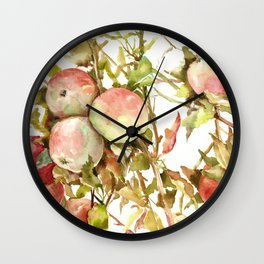 Apples on Tree Wall Clock