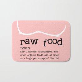 Raw Food Diet Pink Bath Mat