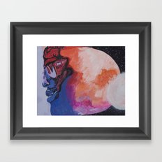 Man On The Moon (Revisited) : The Second Landing Framed Art Print