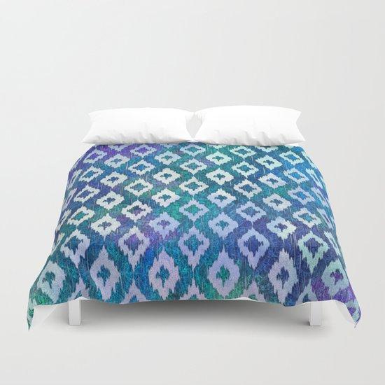 Jewel Ikat Pattern Duvet Cover