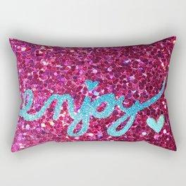 Enjoy Glitter Card Rectangular Pillow