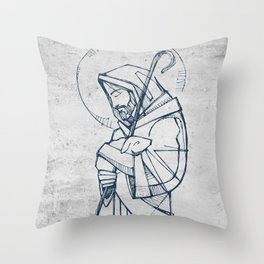 Jesus Christ Good Shepherd Throw Pillow