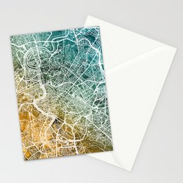 Rome Italy City Map Stationery Cards