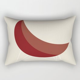 Red Coconut Chair by George Nelson Rectangular Pillow