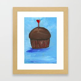 Love and cupcakes Framed Art Print