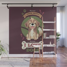 I Love Dogs! Wall Mural