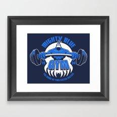Mighty Blue Gym Framed Art Print