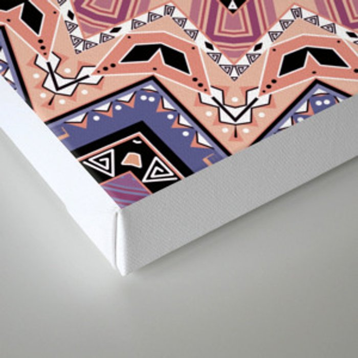 Pink blue ethnic pattern . Canvas Print