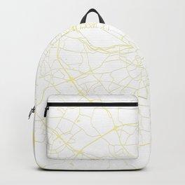White on Yellow Dublin Street Map Backpack