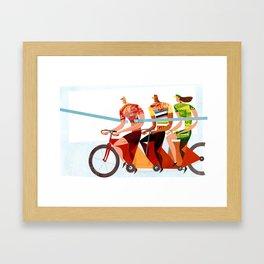 Bicycle Tour de France Tandem for Three Framed Art Print