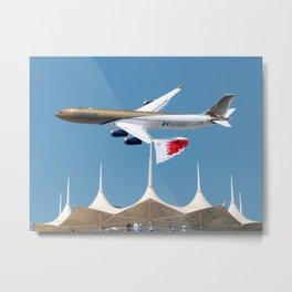 Gulf Air A340-2 Metal Print