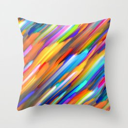 Colorful digital art splashing G391 Throw Pillow