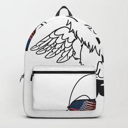 Merica Memorial Day Eagle Funny American Flag Backpack