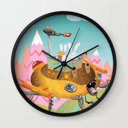 Bunny Invasion Wall Clock