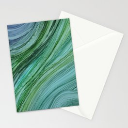 Green Agate Geode Slice Stationery Cards