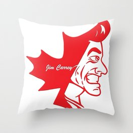 Canadian Pride Series: Jim Carrey Throw Pillow
