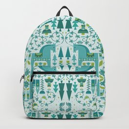 Fairytale Illustration in Blue Backpack