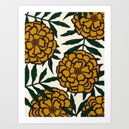 Yellow Marigolds Art Print