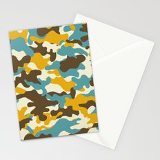Colorful camouflage pattern Stationery Cards