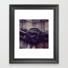 Gargoyle (Yale, CT) Framed Art Print