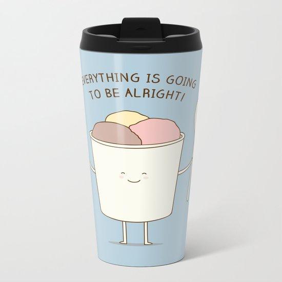 comfort food Metal Travel Mug
