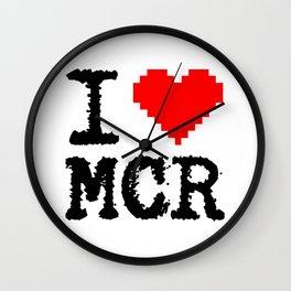 i love mcr Wall Clock
